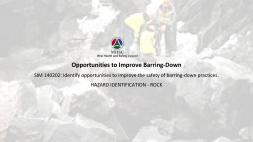 Opportunities to Improve Barring HAZRD ROCK
