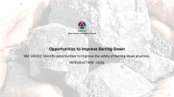Opportunities to Improve Barring INTRO COAL